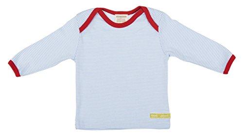 Loud and Proud Loud + Proud Unisex - Baby Sweatshirt M101, Gestreift, Gr. 56 (Herstellergröße: 50/56), Blau (Light Blue)
