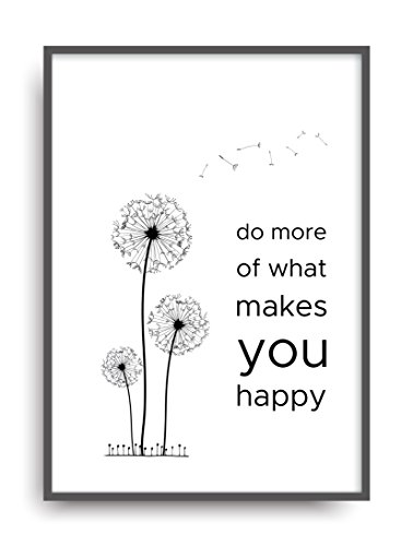 ALEMARG Fine Art Kunstdruck Make You Happy Poster Print Plakat Moderne Vintage Deko Bild ungerahmt DIN A4 Geschenk