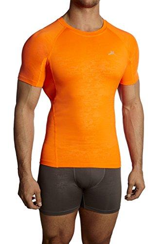 Mission Herren VaporActive Kompressionsshirt XL Orange