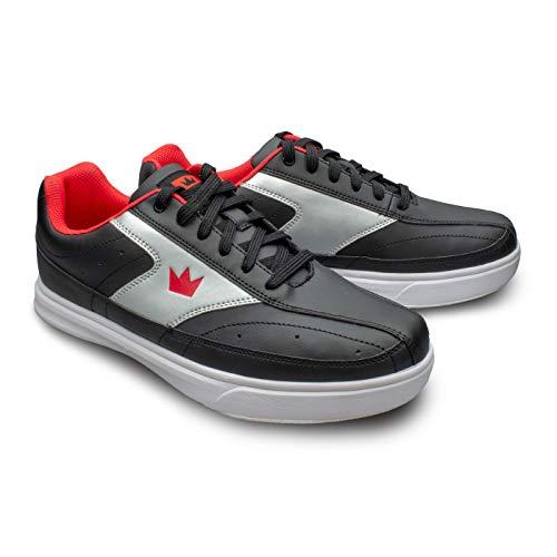 Bowling-Schuhe, Brunswick Renegade, Damen und Herren, für Rechts- und Linkshänder in 4 Farben Schuhgröße 38-47 (Schwarz/Rot, Numeric_44)