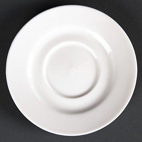 20 Restauration cd644 rond soucoupes pour tasse à 4 G, Taille : 110 mm (Lot de 6)