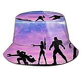 Guardianes de la Galaxia Sombrero de Pescador protección UV de Verano Sombreros de Cubo de Viaje Gorra de Sol Plegable...