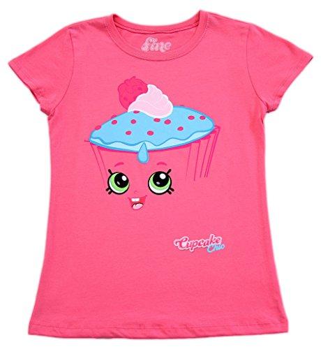 Shopkins I Am Cupcake Chic Girls Hot Pink T-Shirt (Youth X-Small)