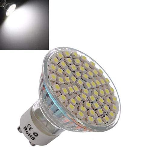 LILICEN Bombilla LED GU10 4.5W Blanco 60 SMD 3528 8X LED Spotlightt Bulbo de lámpara de CA 220V