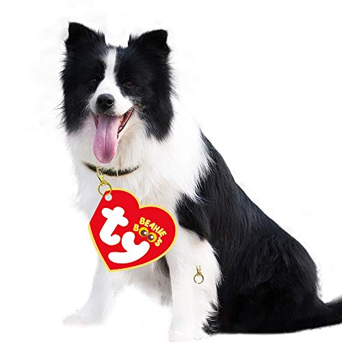 cxwind Pet ID Tags Felt Tags for Anti-Lost,Pet Costumes Red Heart-Shaped Tags Hanging on The Collar for Dogs Cats Puppies,3 Pack Supplies