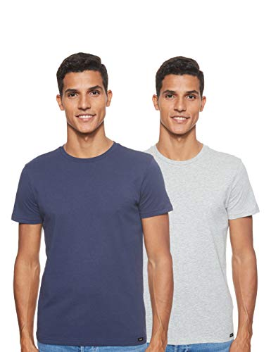 Lee Twin Pack Crew Camiseta, Multicolor (2 Pack Mix Aild), Medium 2 para Hombre