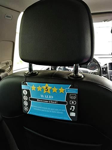 Générique Pack de 2 Affichettes informatives pour Chauffeurs Taxi et VTC (Uber, Kapten, Heetch, Bolt.)