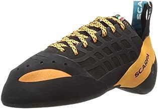 SCARPA Instinct Lace Rock Climbing Shoes for Sport Climbing and Bouldering - Black/Orange - 8-8.5