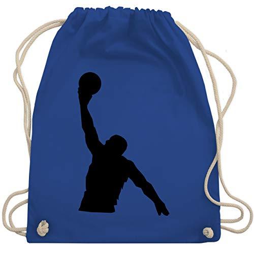 Basketball - Basketballer Wurf - Unisize - Royalblau - basketball shirt damen - WM110 - Turnbeutel und Stoffbeutel aus Baumwolle