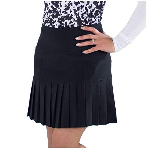 Jofit Apparel Women's Athletic Clothing Long Knife Pleat Skort for Golf & Tennis, Size Medium, Black