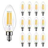 B11 E12 Candelabra LED Bulbs 60 Watt Equivalent, Dimmable LED Chandelier Light Bulbs, Soft White 2700K, 550LM,...