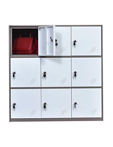 MECOLOR 9 Door Metal Locker, Office Cabinet Locker,Living Room and School...