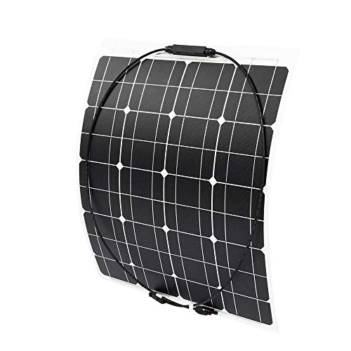 Jtoony Solarmodule 70W 18V Wasserdicht Semiflexible Monokristalline Solarpanel 640x540x3mm Solarladung (Color : Black, Size : 640x540x3mm)
