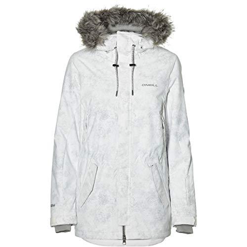 O'Neill Damen Snowboard Jacke Hybrid Cluster III Jacket, Grey AOP w/White, S