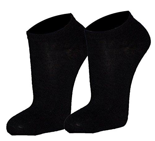 r-dessous 10 bis 30 Paar Damen Herren Sneaker Socken Sportsocken Füßlinge Kurzsocken schwarz weiss Baumwolle Groesse: 40-46