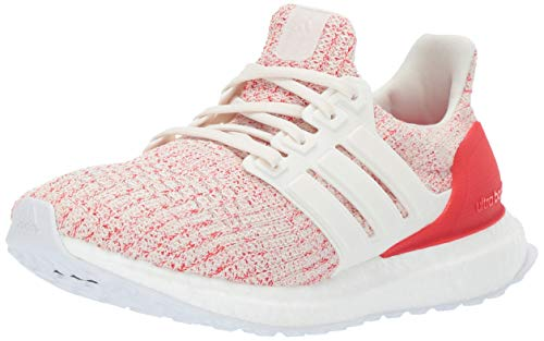 adidas Unisex-Kid's Ultraboost, Chalk White/Chalk White/Active red, 6.5 M US Big Kid