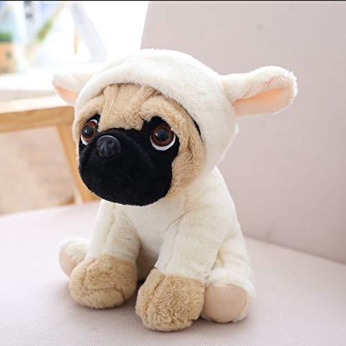 KXCAQ 20 cm de Peluche de simulación de Perros de Peluche Sharpei Pug Adorable Cachorro de Juguete para Mascotas Juguete de Felpa para niños cumpleaños 20 cm Oveja