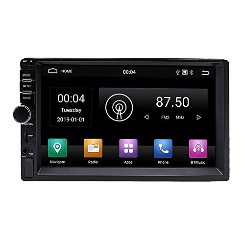 YODY Android 9.0 Double Din Car Stereo Radio 7 Inch Touch Screen in Dash GPS Navigation Support WiFi Bluetooth Mirror Link with Backup Camera and Microphone (2Din 2GB Ram+32GB ROM)