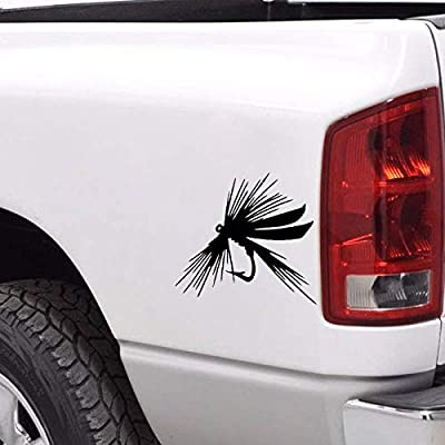 FLY FISHING LURE Personality Vinyl Car-styling Car Window bumper Sticker door Decals