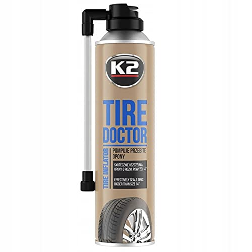 Jerky Tyre Doctor - Bombas y Sellos de reparación rápida de neumáticos de 14-17 Pulgadas (Rueda de Repuesto)