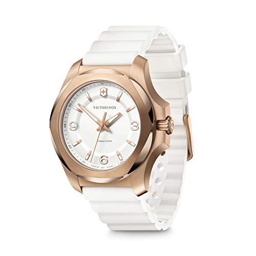 Victorinox I.N.O.X. V 241954 - Reloj para mujer con esfera blanca y correa de goma blanca