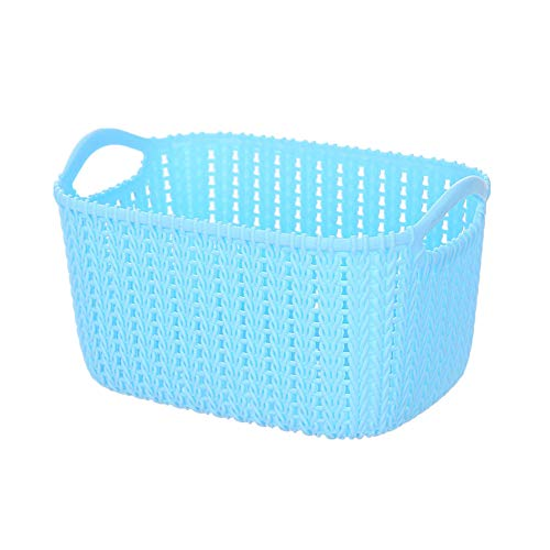 Openg kitchen baskets plastic fabric storage baskets small storage box storage baskets for shelves storage basket side table baskets for storage blue