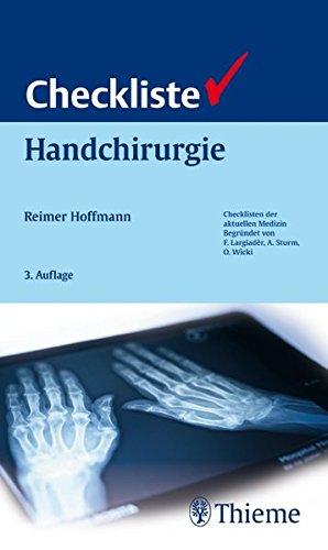 Checkliste Handchirurgie (Checklisten Medizin)