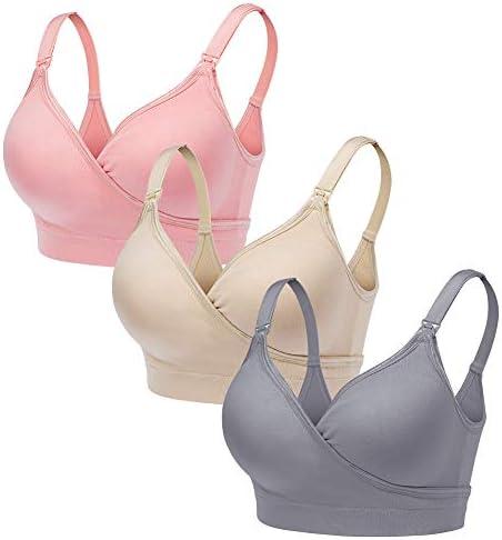 CLUCI 3 Pack Women Nursing Maternity Bra Full Bust Sleeping Wireless Bralette for Breastfeeding product image