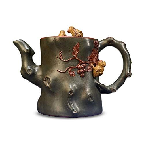 LEBAO Teapot Kung Fu Purple Clay tea sets Pot Monkey (Color : Brown)