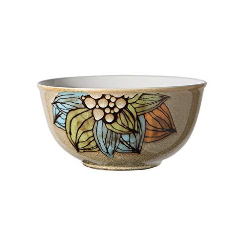 EIIDJFF Tazón de sopa de cerámica grande pintado a mano de color Ramen tazón de fuente de ensalada de frutas, tazón de sopa para el hogar (color: C)
