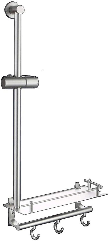 Bathing shower bracket lifting rod space aluminum shower shower set household bathroom shower lifting rod handheld shower shower rod