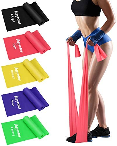 Allvodes Exercise Bands for Working Out Resistance Bands Set with 5 Resistance Levels Skin Friendly product image
