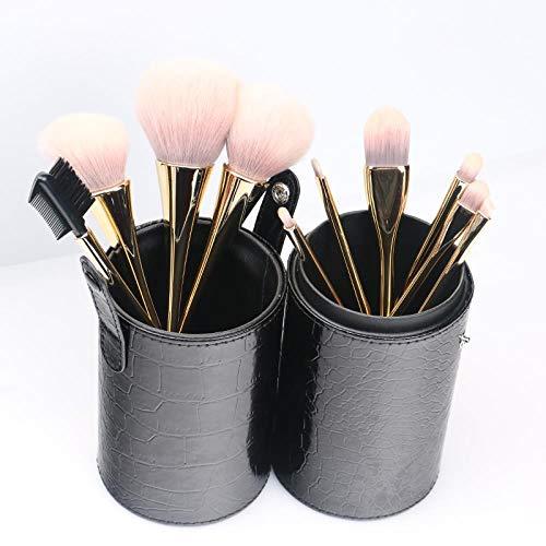 Set De Pinceaux De Maquillage Brush Net Red Ins Tool Blush Portable Storage Tube Bag, Golden A10