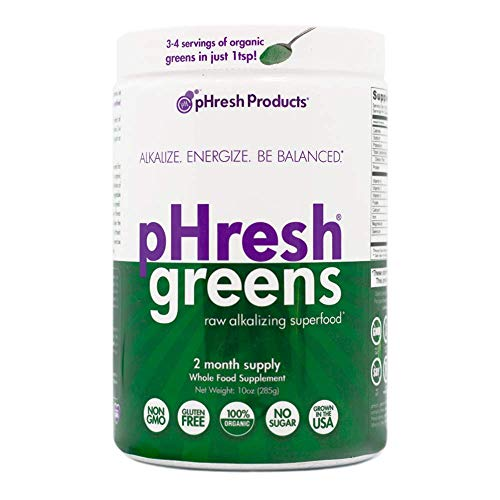 pHresh Products - Greens Organic Raw Alkalizing Superfood Powder