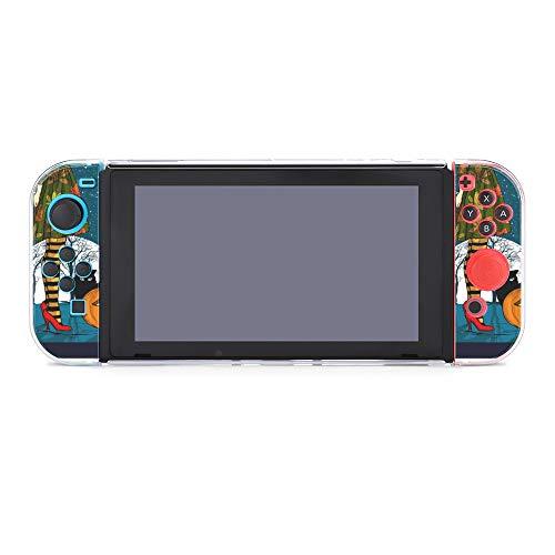 Schutzhülle für Nintendo Switch, Halloween-Nacht mit Zaubererhut, langlebige Schutzhülle für Nintendo Switch und Joy Con