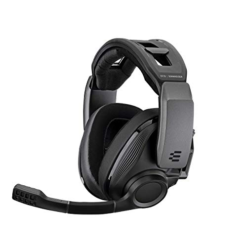 EPOS I SENNHEISER GSP 670 Wireless Gaming Headset, Low-Latency Bluetooth, 7.1 Surround Sound, Noise-Cancelling Mic, Flip-to-Mute, Audio Presets, For Windows PC, PS4, and Smartphones (Renewed)