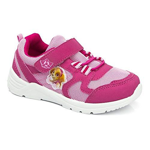 Nickelodeon Paw Patrol Mädchen Sneaker Turnschuhe Schuhe rosa mit LED Klettverschluss (24 EU)