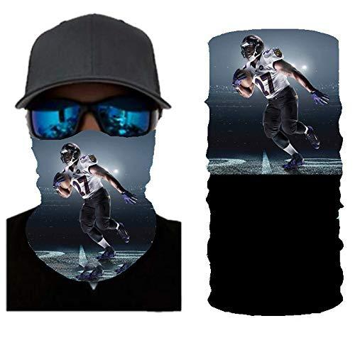 PAWANG Logotipo del Equipo de fútbol NBA FIFA Magic 3D Bufanda sin Costuras decoración de la Cara de Halloween 50x25cm