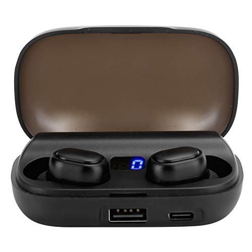 Bicaquu Auricolare Wireless, Auricolare Impermeabile con Controllo tattile, Auricolare Bluetooth 5.0 Sportivo JS2 di Alta qualità, per intrattenimento Musicale Domestico all'aperto