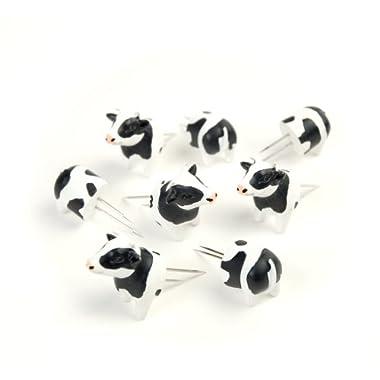 Charcoal Companion Cow Corn Holders, 4 pairs