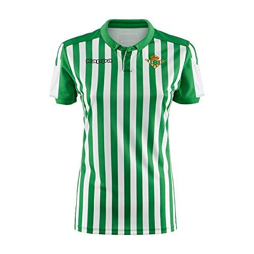 Kappa Official Jersey Home Wo Betis Camiseta de equipación, Mujer