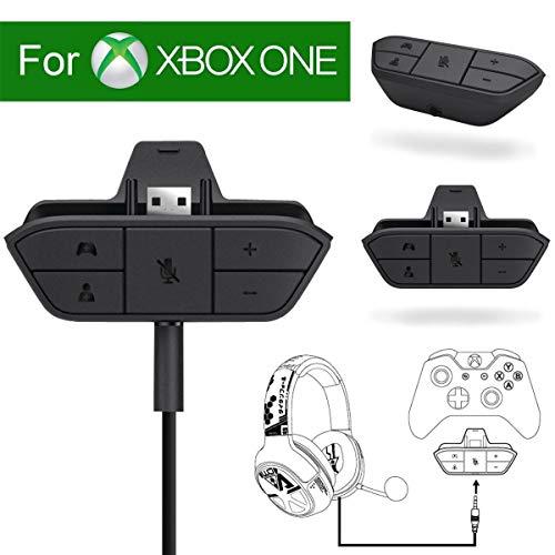 Adaptateur de casque stéréo pour manette Xbox One/S/X/Elite, convertisseur de casque audio pour casque de jeu 3,5 mm avec micro perche