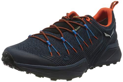 Salewa MS Dropline Gore-TEX Scarpe da Trail Running, Dark Denim/Black, 42.5 EU