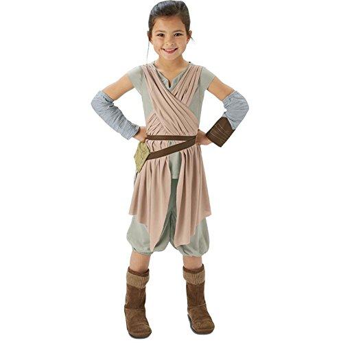 Rubie's IT620263 - Star Wars - Rey Deluxe Costume per bambine, Taglia 11/12 Anni