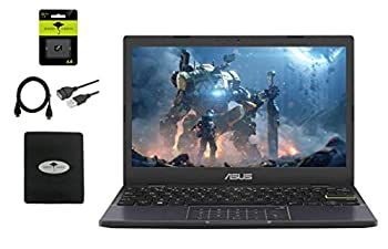 2021 Newest Asus 11''6 HD Thin Student Laptop IntelCeleron N4020 up to 2.8 GHz  4GB RAM 64GB eMMC Number Pad 180°Lay-Flat Hinge HDMI Webcam WiFi Windows 10 S w/64GB SD Card + GM Accessories