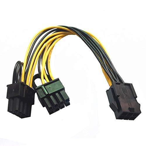 Rehomy Power Splitter Kabel PCIE PCI Express PCI-E 6-pin naar 2x 6+2-pin (6-pin/8-pin)