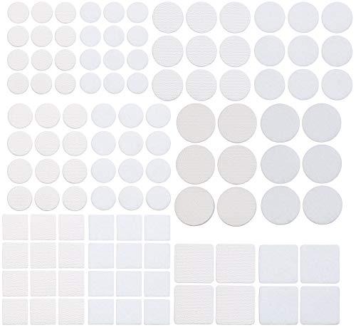 AGT Gleiter: 110-teiliges Filzgleiter- und Möbelpuffer-Set, selbstklebend, weiß (Filzunterlage)