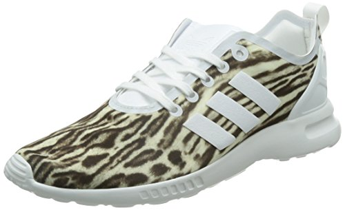 adidas Damen ZX Flux ADV Smooth Sneakers, Weiß (Core White/Core White/Core Black), 37 1/3 EU