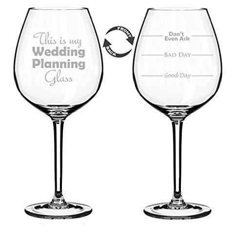 Weinglas-Kelch, zweiseitig, Aufschrift