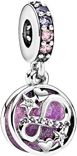 LaMenars Love Charm para Pulseras Pandora 925 Silver Colgante Abalorios para Mujeres Collares Regalo para el cumpleaños del día de la Madre (M-Infinito Amor)